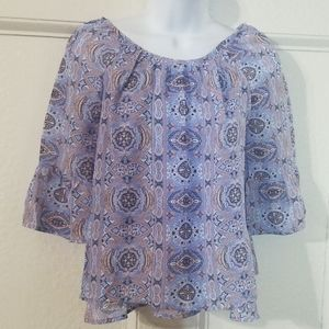 Girl's Beautees Blouse Small in gorgeous blue
